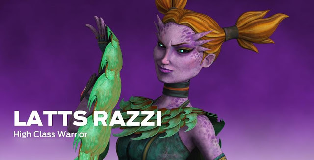 Clare returns to Star Wars: The Clone Wars as Latts Razzi