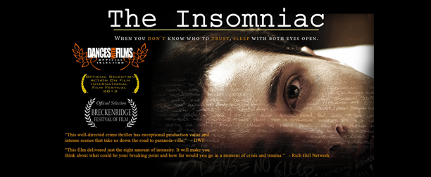 "Clare's new movie ""The Insomniac"" premieres at Dances with Films Festival"