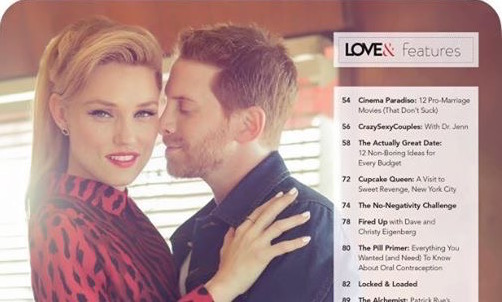 "Clare & Seth on the cover of ""Love&"" magazine"