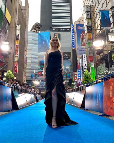 Clare Grant at the Godzilla: King of the Monsters premiere in Tokyo