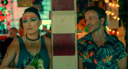 Clare Grant and Breckin Meyer in Changeland
